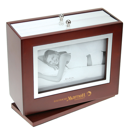 Cherry Wood Revolving Album Frames