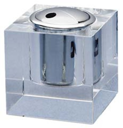 Clear Crystal Cube Table Lighter
