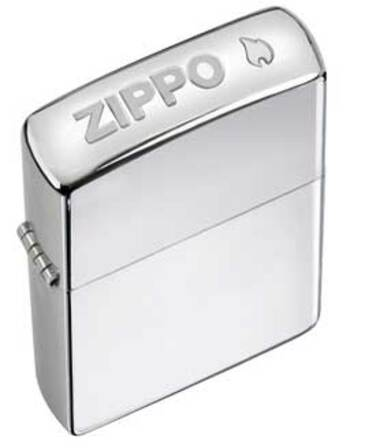 Crown Stamp (Zippo) High Polish Chrome Zippo Lighter - ID# 24750
