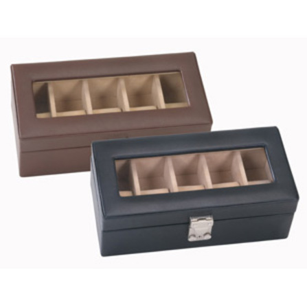 Deluxe Genuine Leather 5 Watch Box