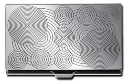 Etched Circle Design Business Card Case