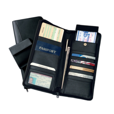 Expanded Leather Document Case & Passport Holder