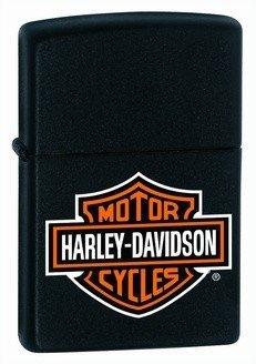 Harley Davidson Logo Black Matte Zippo Lighter - ID# 218HD-H252