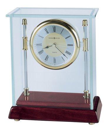 Kensington Glass Bracket Case Table Clock By Howard Miller
