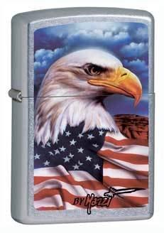Mazzi Eagle Freedom Watch Street Chrome Zippo Lighter - ID# 24764