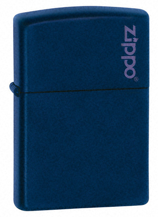 Navy Blue Matte with Zippo Logo Zippo Lighter - ID# 239ZL