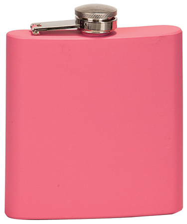 Personalized Pink Alcohol Flask