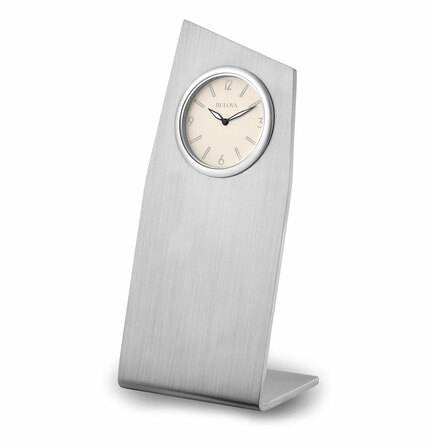 Point Contemporary Desktop Clock By Bulova