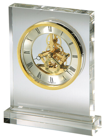 Prestige Optical Crystal Table Clock by Howard Miller
