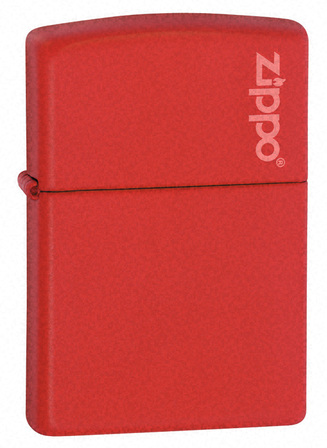 Red Matte with Zippo Logo Zippo Lighter - ID# 233ZL