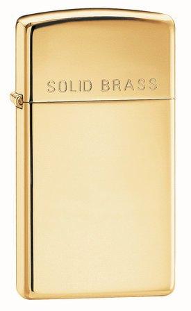 Slim Solid Brass Personalized Zippo Lighter