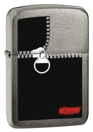 Unzipped Black Ice Zippo Lighter - ID# 28326