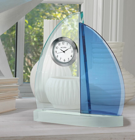 Windswept III Desktop Clock By Bulova
