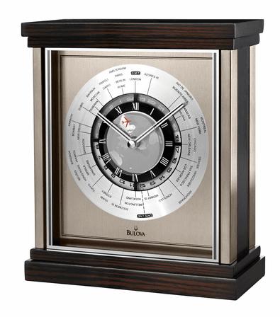 Wyndmere World Time Tabletop Clock by Bulova