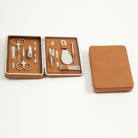 10 Piece Leather Manicure Set