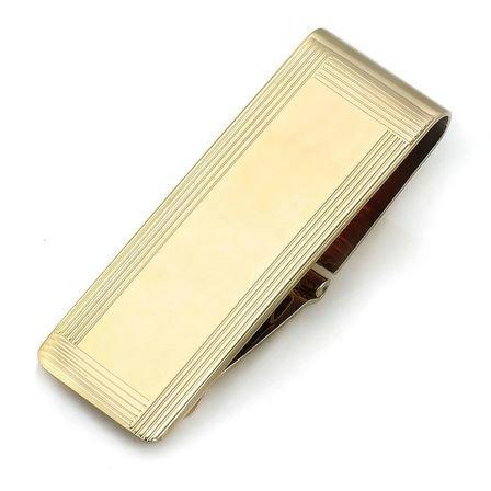 14 Karat Gold Picture Frame Engravable Money Clip
