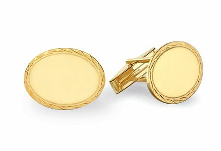 14 Karat Gold Rope Collection Engravable Cufflinks