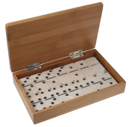 28 Piece Domino Set in Bamboo Box
