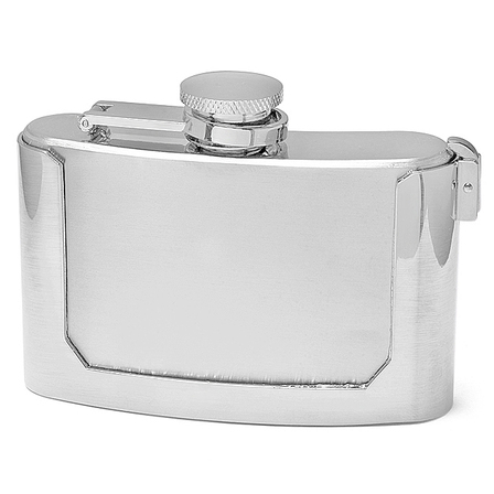 3 Ounce Engraved Belt Buckle Flask