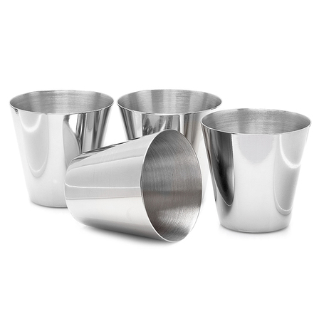 4 Piece Stainless Steel Shot Cup Set
