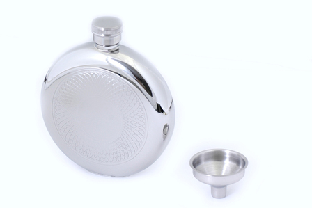 Engraved Round Flask & Funnel  Set