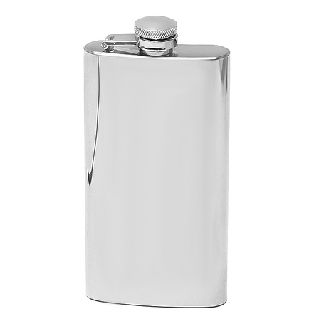 5 Ounce Polished Finish Engraved Hip Flask