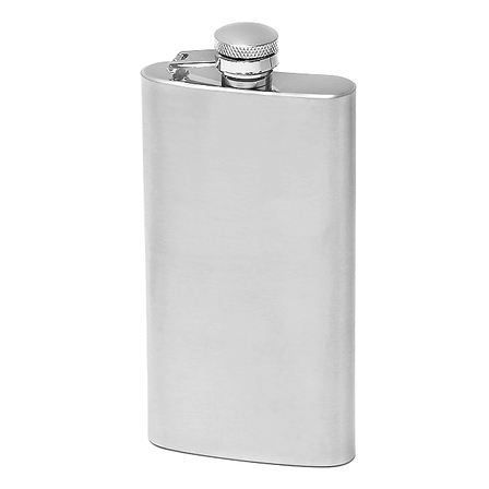 5 Ounce Satin Finish Engraved Hip Flask