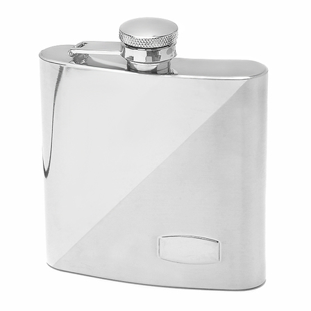 Two Tone Engravable Flask