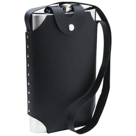 64 Ounce Personalized Flask With Carrying Sheath