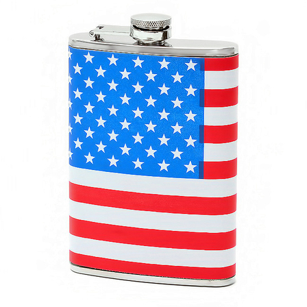 8 Ounce American Flag Flask