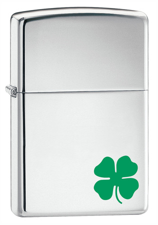 A Bit o' Luck High Polish Chrome Zippo Lighter - Free Engraving - ID# 24007