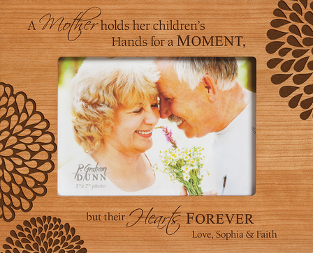 "A Mother Holds Personalized 5"" x 7"" Picture Frame"