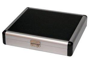 Aluminum & Leather Cigar Travel Humidor