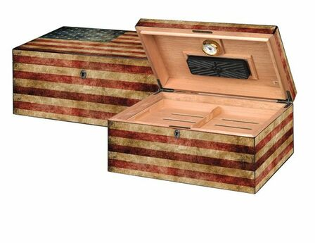American Flag 100 Count Cigar Humidor