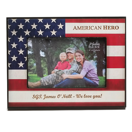 American Hero Personalized Picture Frame - Discontinued