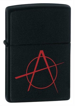 Anarchy Black Matte Zippo Lighter - ID# 20842