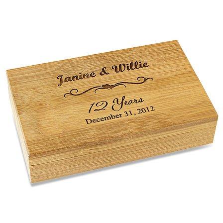 Anniversary Gift  2 Piece Bamboo Wine Tool Set