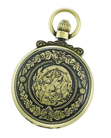Antique Gold Horse Theme Charles Hubert Pocket Watch & Chain #3865-G
