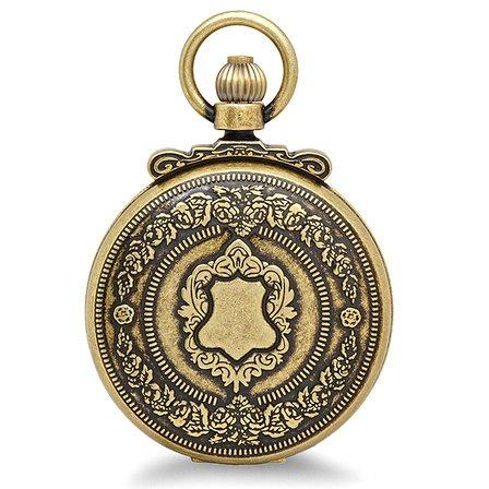 Antique Gold Quartz Charles Hubert Pocket Watch & Chain #3864-G