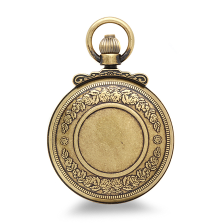 Antique Gold Quartz Railroad Charles Hubert Pocket Watch & Chain #3863-G