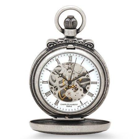 Lion & Shield Mechanical Charles Hubert Pocket Watch & Chain #3866-S