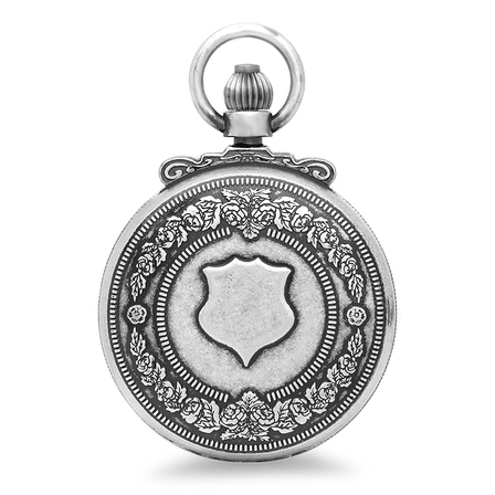 Antique Silver Vintage Charles Hubert Pocket Watch & Chain #3867-S