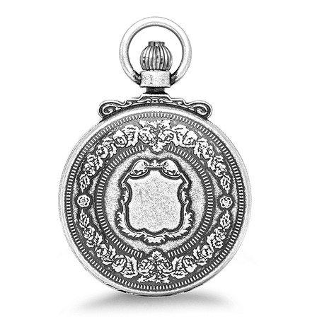 Antique Silver Mechanical Charles Hubert Pocket Watch & Chain #3868-S