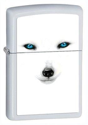 Arctic Fox White Matte Zippo Lighter - ID# 28272
