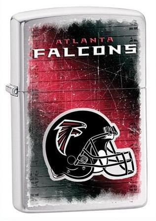 Atlanta Falcons NFL Brushed Chrome Zippo Lighter - ID# 28209