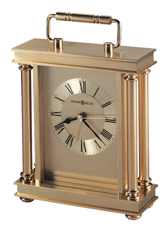 Audra Brass Carriage Clock by Howard Miller