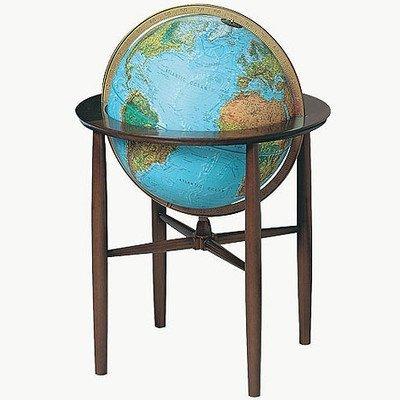 Austin Floor Globe In Blue by Replogle Globes