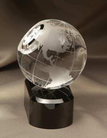 Axis World Globe Desk Clock by Howard Miller