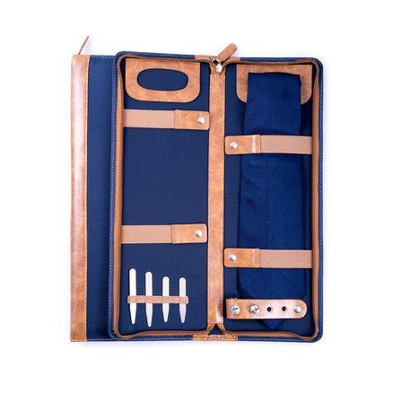 Ballistic Blue Nylon Travel Tie Case
