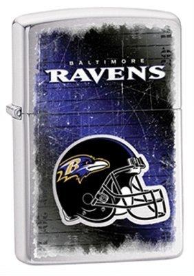 Baltimore Ravens NFL Brushed Chrome Zippo Lighter - ID# Z762